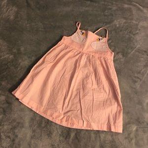 🎈 2/$12 CARTER'S Pink Swan Sleeveless Tank Dress